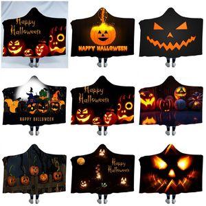 Happy Halloween Kinder Hut Decken Verdicken Druck Hoodies Mantel Decke Party Perform Cap Mäntel Party Supplies 65ql E1