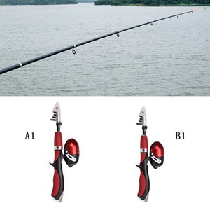 Fishing Spinning Reel Rod Pole Gear Set Telescopic Fishing Rod Combo and Reel Full Kit Ice with Lure Hook Fish Tool