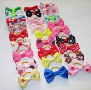 Pet hairband Handmade Dog Bow Hair Little Flower Bows For Dogs Pet Grooming Accessories Products Cute Cat Supplies 50pcs lot LXL712