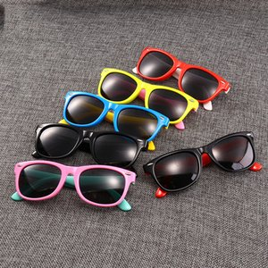 Manufacturers New Spot Wholesale Classic Silicone Fashion Radiation Polarized Sunglasses Baby Glasses Children Sunglasses 23 Frame Colors