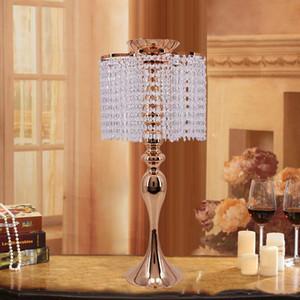 58cm 18inch Decoração de cristal casamento Centerpieces Bola flor do casamento Titular Table Centerpiece Vaso Levante 10pcs Cristal Candlestick / lot