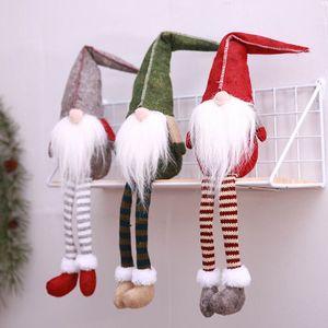 2018 New Christmas Cute Sitting Elf a gambe lunghe Festival Cenone di Capodanno Decorazioni natalizie per la casa