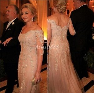 Lace Beads Off The Shoulder Half Sleeve Mother Of The Bride Dresses Long Formal Wedding Mother Dress Evening Wedding Guest Gowns Plus Size