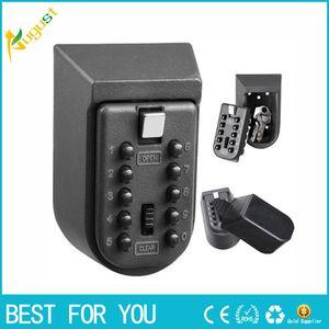 Clé murale Boîte de rangement sécuritaire avec serrure à combinaison Couverture de protection contre les intempéries de 10 mots de passe numériques pour boîte de rangement pour utilisation à domicile
