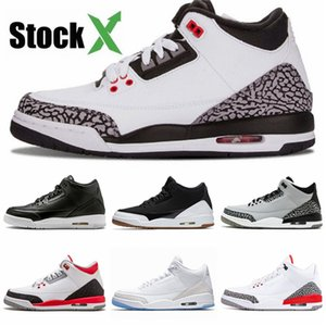 Top Quality 3 3S White Cement Pure Money Basketball Shoes Men Bred Royalty Game Royal Designer Trainers Sports Sneakers Size 41-47#188