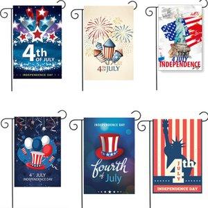 30 * 45CM American Flag Day Dia Nacional da bandeira US Independence Courtyard Garden Bandeira de alta qualidade dia nacional de poliéster Jardim Bandeira