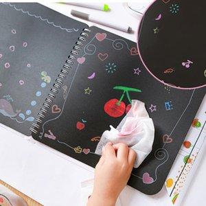 Çocuk anaokulu bebek boyama kitabı kitabı boyama için Taşınabilir karton doodle kurulu yıkanabilir resim albümü sildi ve tekrar tekrar kullanılması