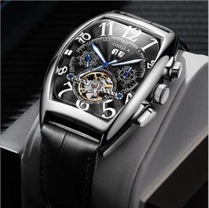 Alta qualidade NOVO relógio dos homens 8880 CH enrolamento automático tourbillon mostrador digital 316 mão dos homens da moda de prata relógio esportivo