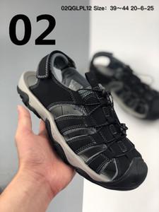 High quality 2020 men's sandals magic buckle beach shoes CA cowhide hole Baotou shoes card agents' shoes outdoor leisure T sandals