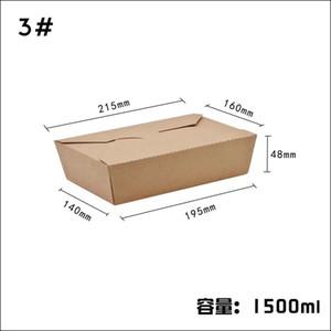 Biologisch abbaubare Einweg gesund Convenient Nahrungsmittelbehälter für auslaufsicher Kraftpapier Lunchbox mit 5 Arten wählbar