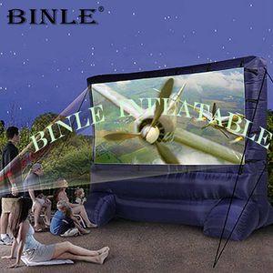 2019 fait sur mesure écran de cinéma gonflable, cinéma extérieur air projecteur arrière écran gonflable