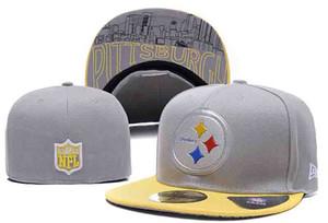 2020 nuevo hombre de la llegada mujer Pittsburgh Steelers Diseñador Sombreros Equipos insignia del bordado cadera salto sombrero al aire libre casquillos de los deportes sombreros equipado orden de la mezcla