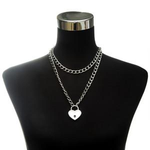 Clé 90s collier coeur enchaînez collier cou Colliers valentines bijoux EGirl cadeaux couple