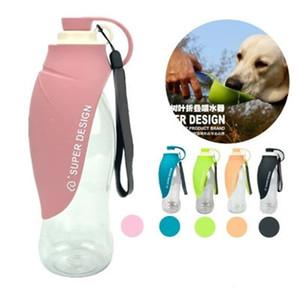 Pet Dog Leaf Cup Décore tasse de gel de silice Eau de soutien Bouteille Anti Scald Jaune Bleu pratique 23zc C1