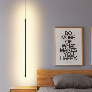 Simplicity Modern Pendant Lights Living Room Dining Room Bedroom Bedside Hanging Lamp Minimalist Line Art LED Light Fixtures AC