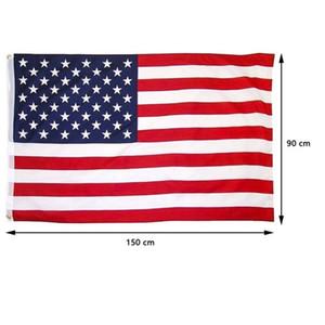 5*3FT Америка национальный флаг 150 * 90 см США Звезды и полосы флаги для празднования фестиваля украсить парад всеобщие выборы страна баннер
