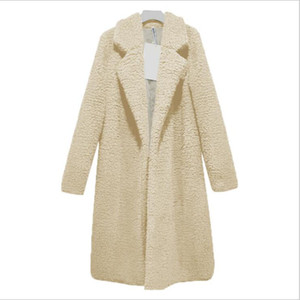 Solid Teddy Coat Winter Coat Women Long WOOL Coats And Jackets Manteau Femme Hiver Abrigos Mujer Elegante Cappotto Donna WT026