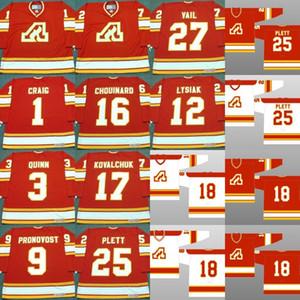 Atlanta Chamas Jim Craig Pat Quinn Jean Pronovost Tom Lysiak Guy Chouinard Ilya Kovalchuk Willi Plett ERIC VAIL Hockey Jerseys S-5XL