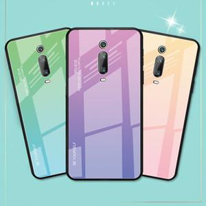 Cassa del telefono di pendenza, vetro temperato per Xiaomi Mi A1 A2 Max3 Mix3 redmi Nota5 6A 6pro 5plus Note7 Protective Cover posteriore Shell