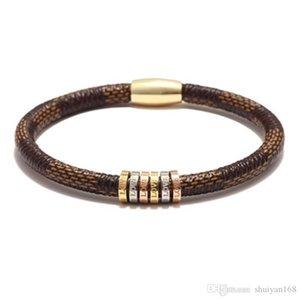 Cuoio Bracciali amore Bangles 20,5 centimetri per il regalo di Natale gioielli fibbia braccialetto magnetico donne degli uomini in acciaio inox