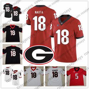 2019 UGA Georgia Bulldogs # 9 Alec Ogletree 11 Aaron Murray 15 D'Andre Walker 18 Deandre Baker Isaac Nauta Black Red White Ncaa Jersey