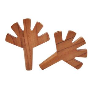 Деревянные трубы Сухого Herbal Руки с 5 отверстий твердого древесины Цвет мундштук Handpipe Bruyere курительной трубкой Горячего продавая 17gl E1