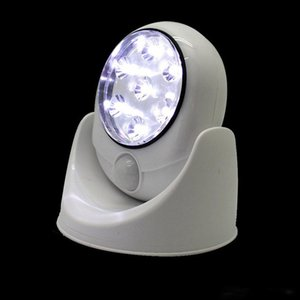 Chaud 7 LED Sans Fil PIR Capteur De Mouvement Auto Lumière LED Motion Light Intelligent Portable Infrarouge Lampe À Induction LED Capteur Veilleuses