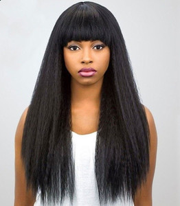 360 Full lace wigs for black women kinky straight lace front wigs with baby hair virgin human hair wigs kinky straight pre-plucked hairline
