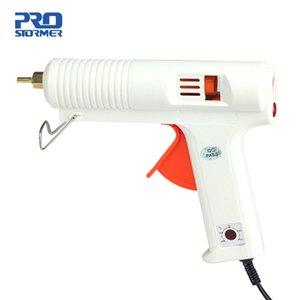 PROSTOEMER EU-Stecker Hot Melt Klebepistole 120W 100-220 Grad Einstellbare Temperaturklebepistole Wärme Gluegun Reparatur Thermo-Werkzeuge