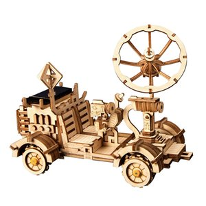 Robotime ROKR DIY الطاقة الشمسية لعب نموذج البناء كيت الفضاء الجمعية الصيد ألعاب للأطفال للأطفال CX200613