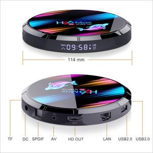 H96 MAX X3 Android 9.0 TV BOX Amlogic S905X3 4GB 128GB 2.4G 5G WiFi BT 1000M Lan 8K Set top Box