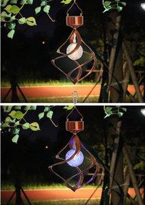 Hot seller hot style solar outdoor lighting solar wind bell lamp household outdoor door lighting