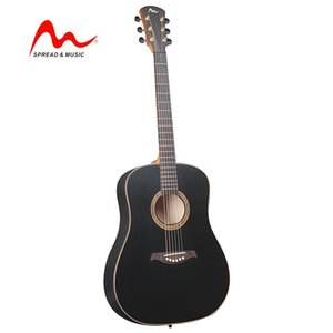 41 inch wholesale price OEM cool black acoustic guitar great sound SW-12