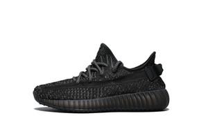 scarpe caldo Kanye West nero statiche vendite all'ingrosso con la scatola nuovo Kanye West scarpe Kid Donna Uomo Designer Shoes libere di trasporto US5-US13 esecuzione