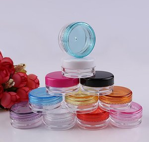 Renkli 5g Kozmetik Boş Kavanoz Pot Göz Farı Makyaj Yüz Kremi Konteyner Şişe Kapasitesi 5g Ücretsiz Kargo