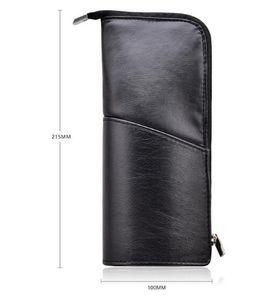 DHL Leather Makeup Brush Holder Organizer Bag Professional Artist Brushes nx Stand-up Makeup Bag Brush Storage Pouch Case 24*10*5cm