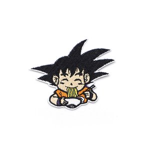 2PCS Cartoon Anime Son Goku Embroidery Patch Iron On Patches For Clothes DIY Accessory Bag Hat Applique Book Stickers C31