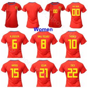 2019 Coppa del mondo di calcio Donne Spagna maglia 4 PAREDES 8 TORREJON 6 LOSADA 11 PUTELLAS 19 SAMPEDRO 10 HERMOSO Maglia da calcio Kit uniforme