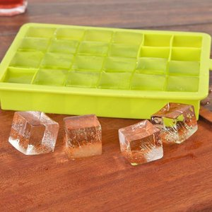 24 Grids Silicone Tray Molds Square Shape Ice Cube Maker Fruit Popsicle DIY Ice Maker MoCream Mold for Wine Bar Drinking
