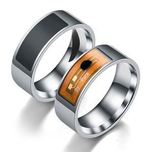 Akıllı yüzük NFC multi-fonksiyonel su geçirmez akıllı yüzük giyen parmak paslanmaz çelik titanyum çelik cep telefonu unlo