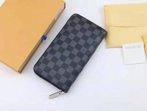 Diseñador de lujo monedero para los hombres de alta calidad monedero bolsos estilo de moda de cuero genuino Monster Look Walled Wallet Holder 6000