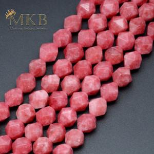 Подлинная натуральный камень граненый Родонит круглые бусины для изготовления ювелирных изделий 6 8 10 12 мм Gem свободные бусины браслет аксессуары