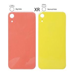 استبدال الجديدة من السهل تغيير الغطاء الخلفي الزجاج الخلفي الإسكان للحصول على اي فون XR XS ماكس البطارية باب الجسم لاصق مع كبير حفرة محفظة 5pcs