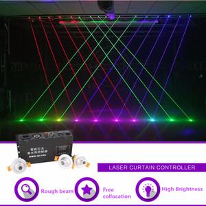 Ücretsiz Kolokasyonu Kırmızı Yeşil Mavi Işın Projektör Hattı Lazer Perde Denetleyici 8 Kanal DMX DJ Parti Gösterisi Arka Plan Sahne Aydınlatma Etkisi
