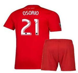 19 20 Kids GIOVINCO soccer jersey Toronto FC HOME red BRADLEY ALTIDORE OSORIO ALTIDORE MORGAN VAZQUEZ CHAPMAN Kids Football Shirt Jersey Kit