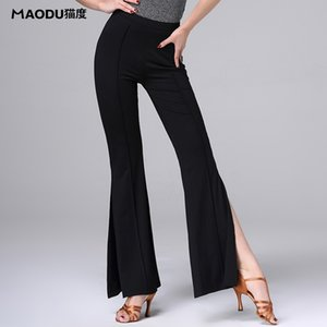 Modal costume training dress performance wear Placketing Latin dance trousers for women female,Ballroom practice pants MD8308