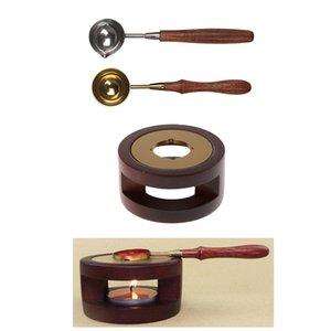 Wax Vintage d'étanchéité four Outils Set Poêle Sticks Seal timbre Pot W / C cuillère