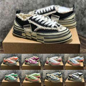 XVESSEL por Vanness Peace Piece Designer Vessel Tripe S Industria pesada Deconstrucción de zapatos de lona de corcho salvaje de fondo grueso 35-44