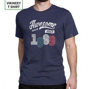 Impressionante Desde Rua Roupa Funky T-Shirt julho 1989 Shirt Vintage T 29o Aniversário camisa do homem Crew Neck Cotton Tees
