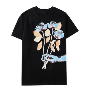 D Summer Mens Women T Shirt Brand Designer Tshirts With Letters Breathable Long Sleeve Mens Tops With Flowers Tee Shirts 2 Colors
